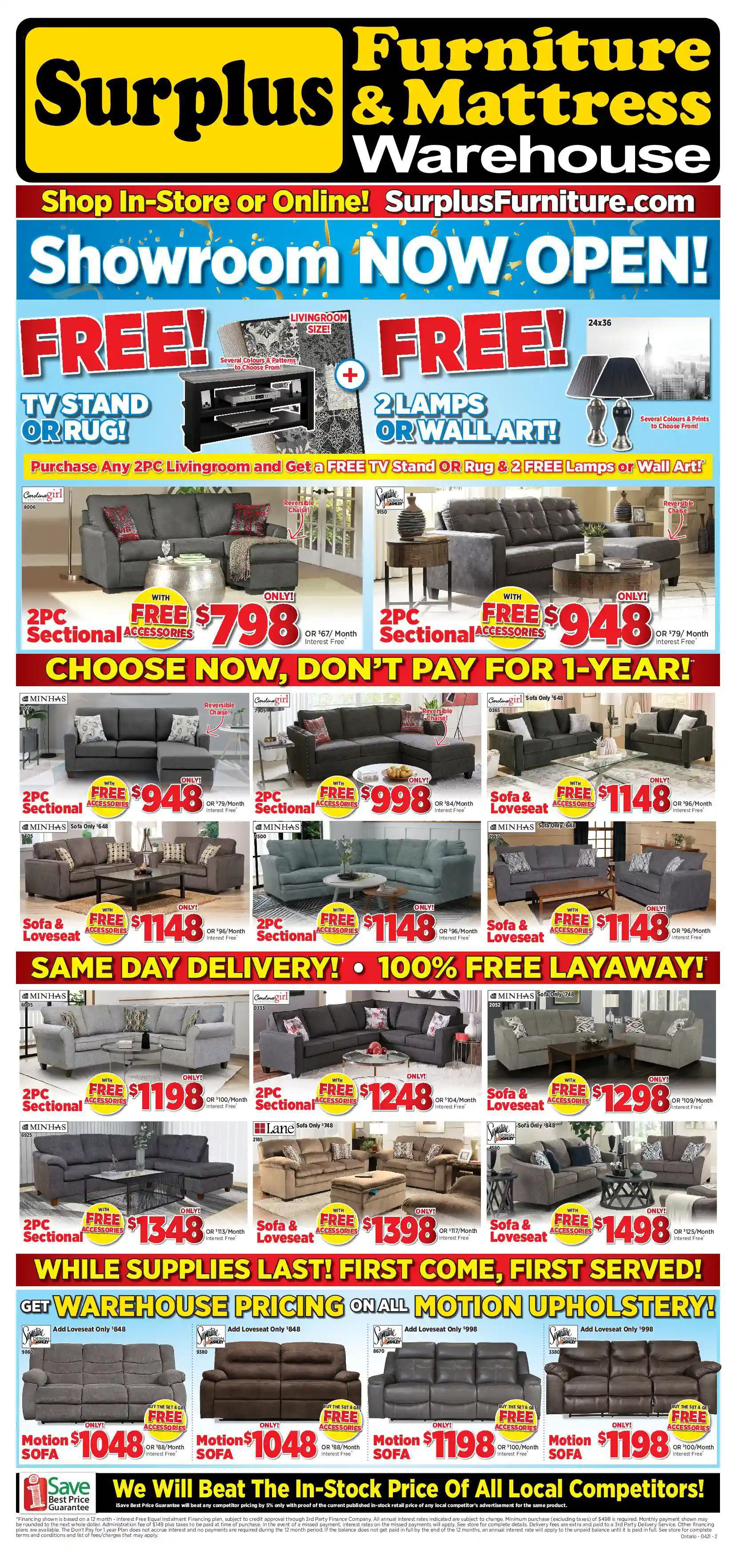 Surplus Furniture & Mattress Warehouse - 4 Weeks of Savings