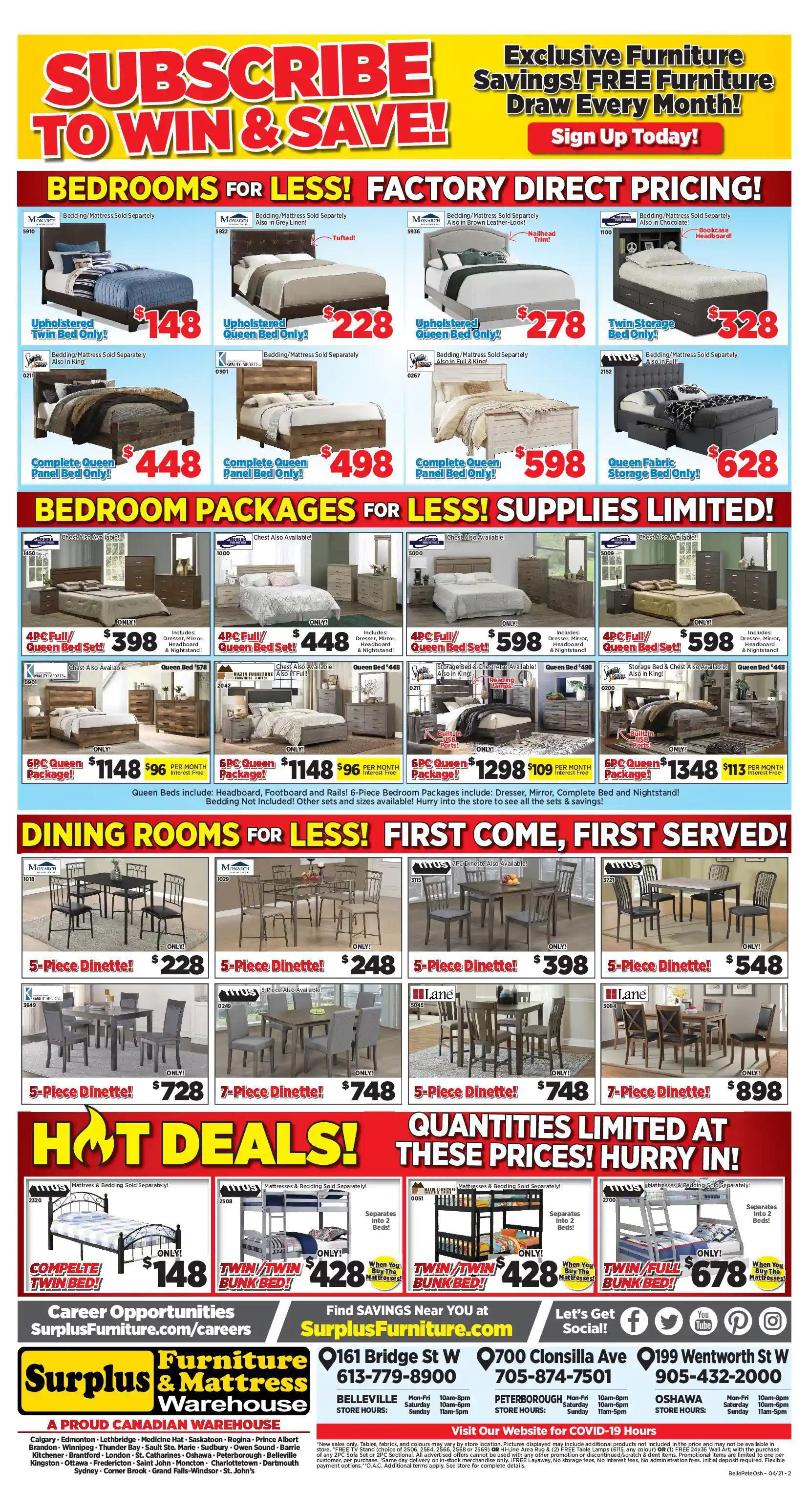 Surplus Furniture & Mattress Warehouse - 4 Weeks of Savings - Page 3