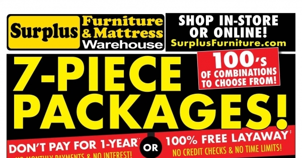 Surplus Furniture & Mattress Warehouse Flyer online