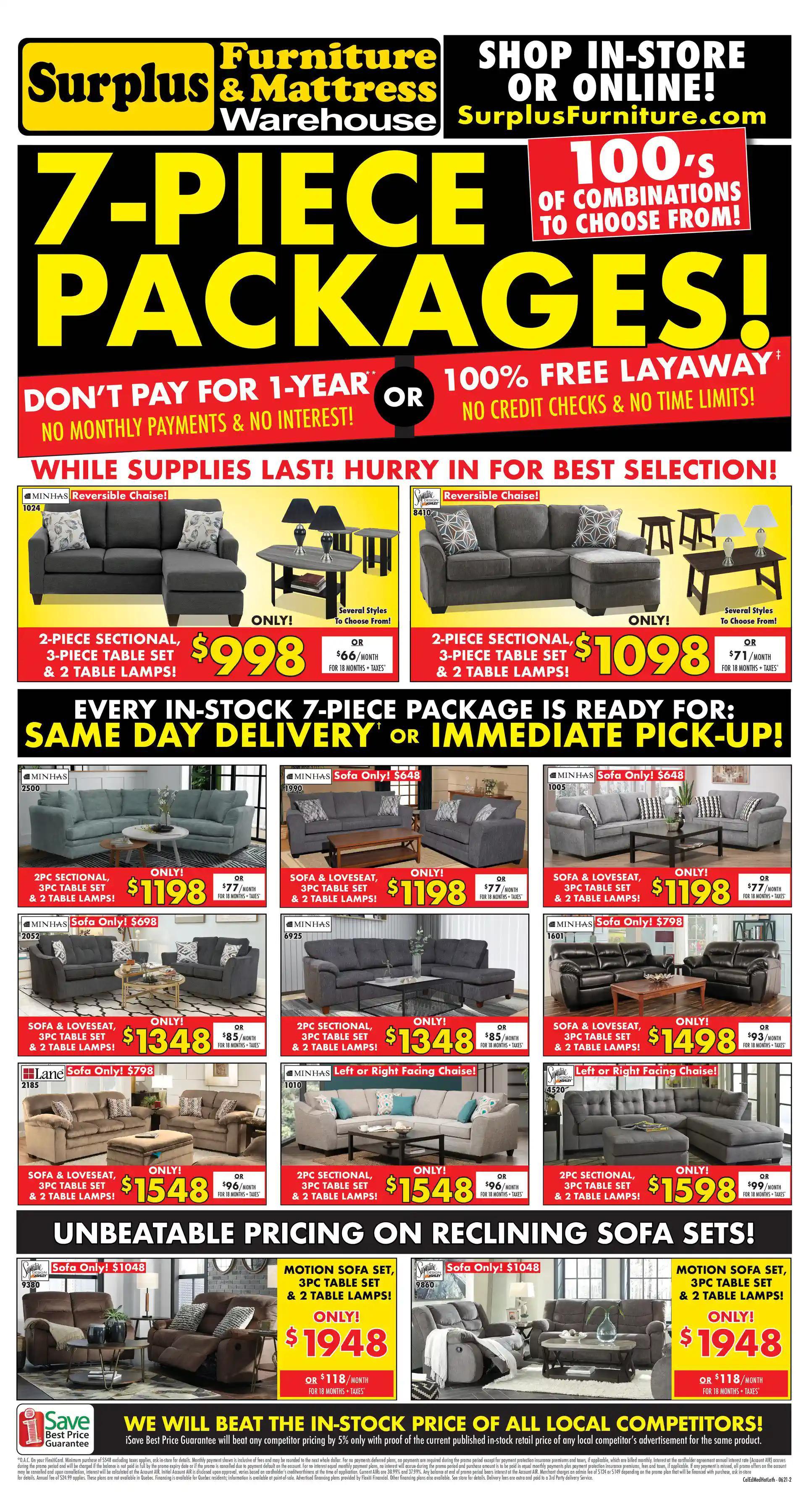 Surplus Furniture & Mattress Warehouse - 2 Weeks of Savings