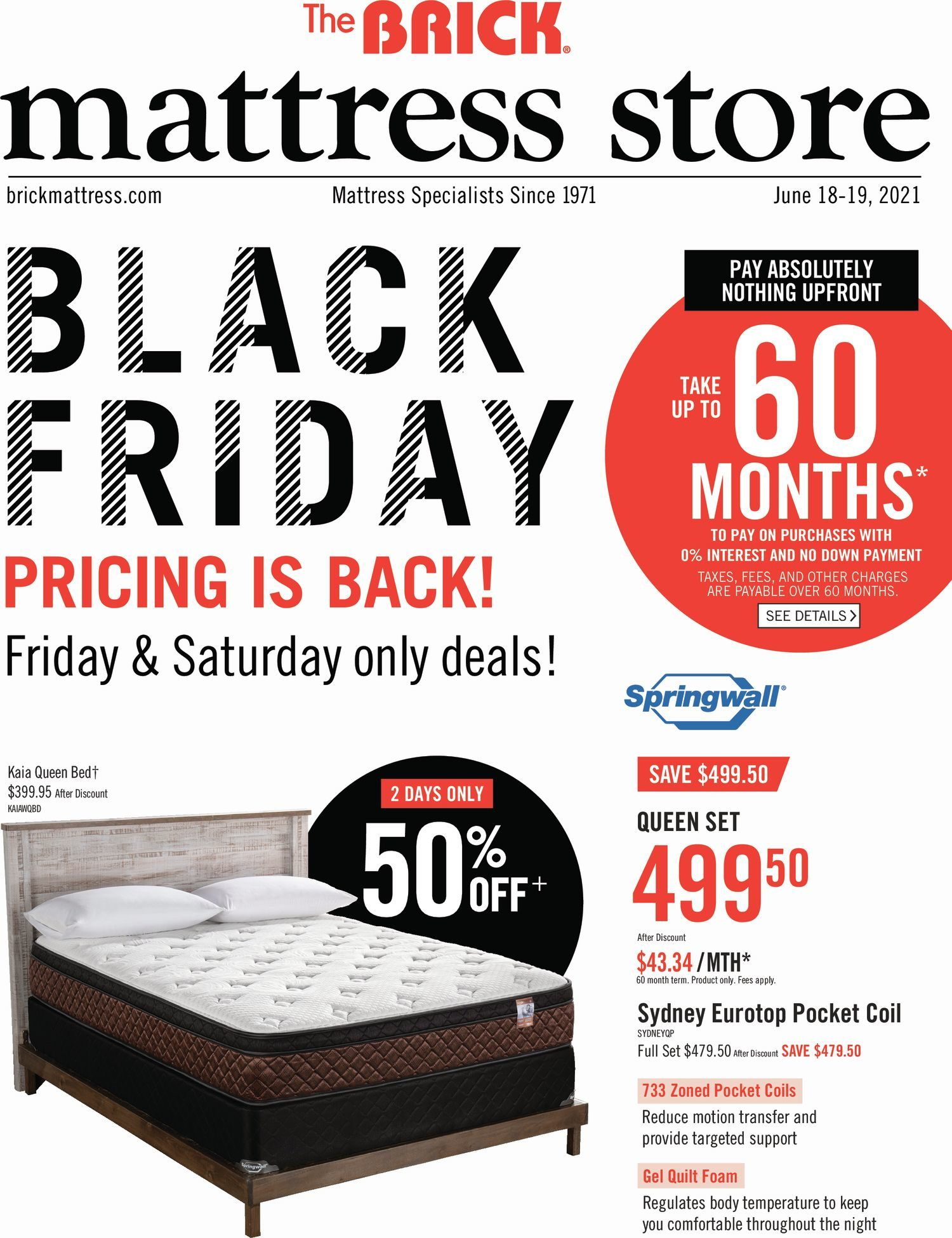 The Brick - Mattress Store - Black Friday Pricing is Back!