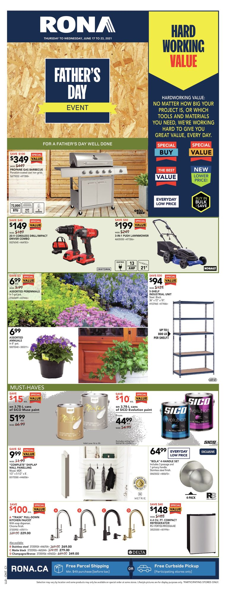 Rona - Weekly Flyer Specials - Father's Day Event