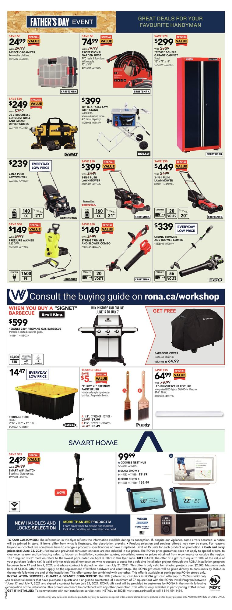 Rona - Weekly Flyer Specials - Father's Day Event - Page 2