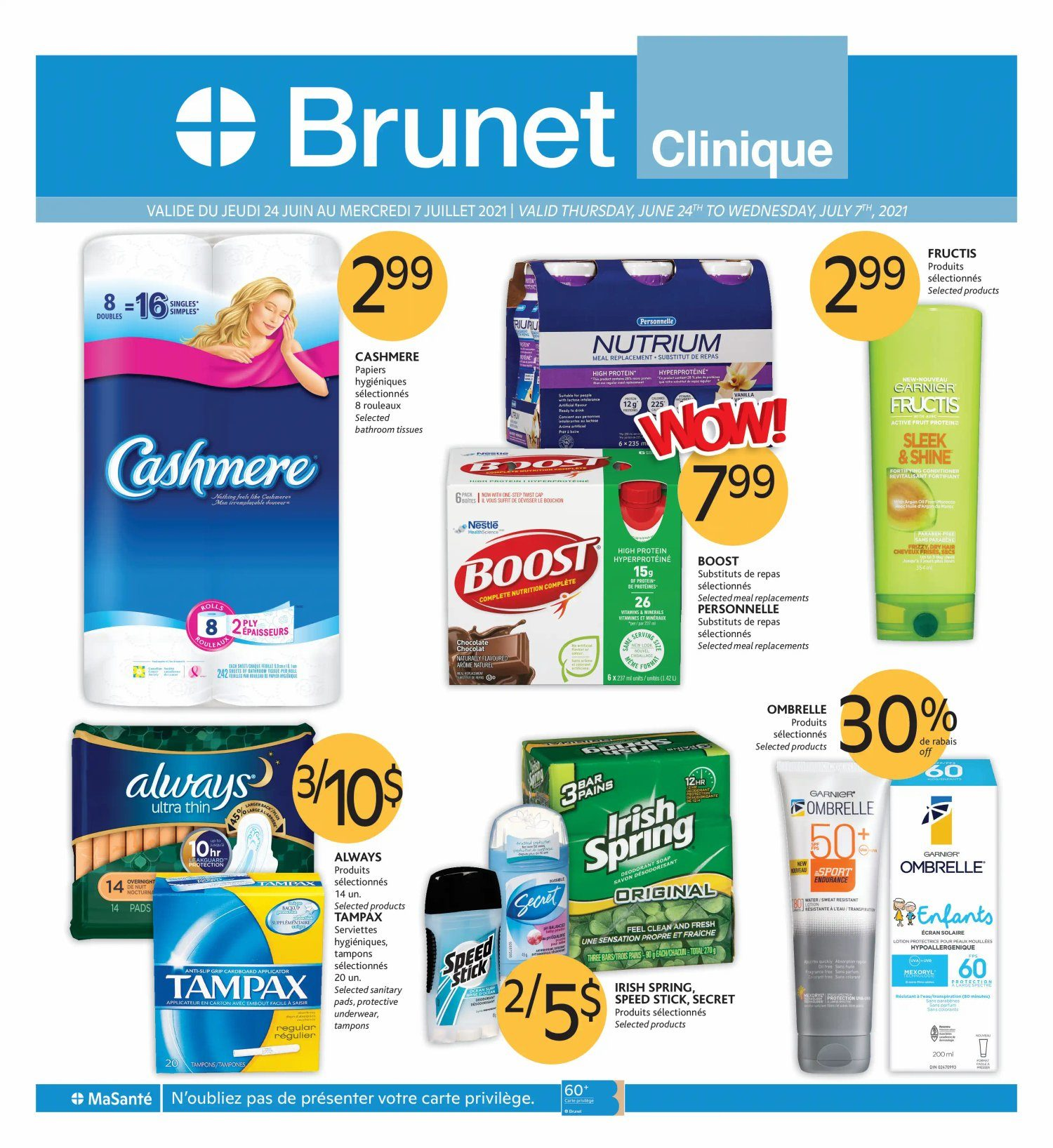 Brunet - Clinical Specials - 2 Weeks of Savings