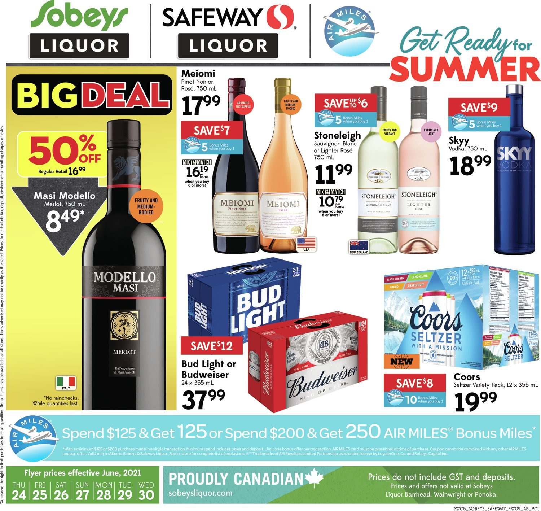 Safeway - Liquor Specials - Get Ready For Summer