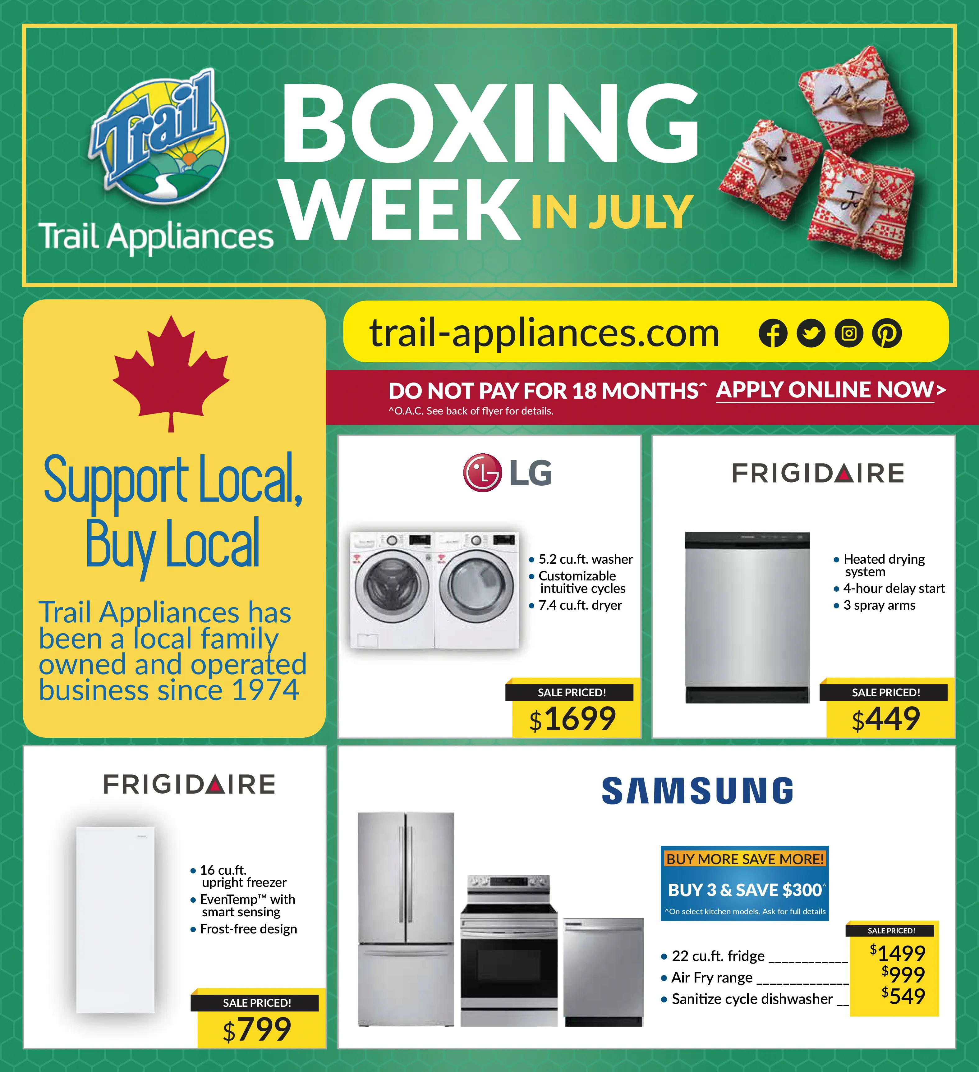 Trail Appliances - Weekly Flyer Specials