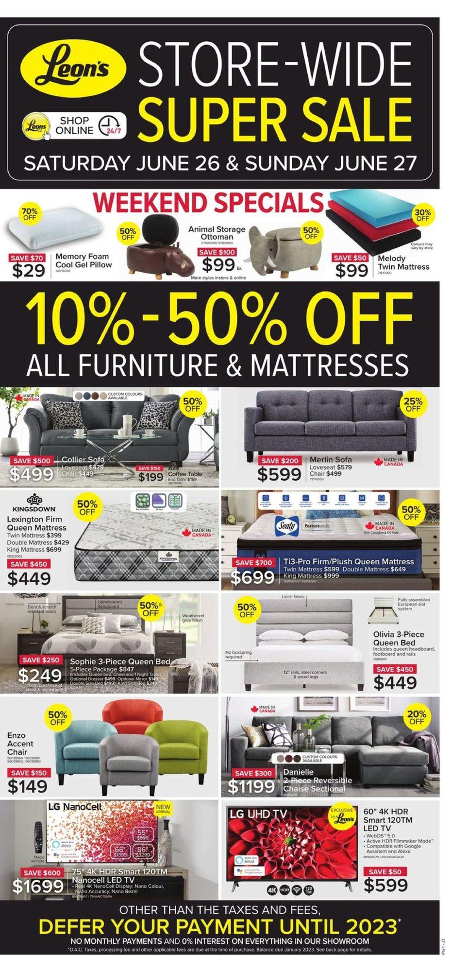 Leon's - Store-Wide Super Sale - Weekly Flyer Specials