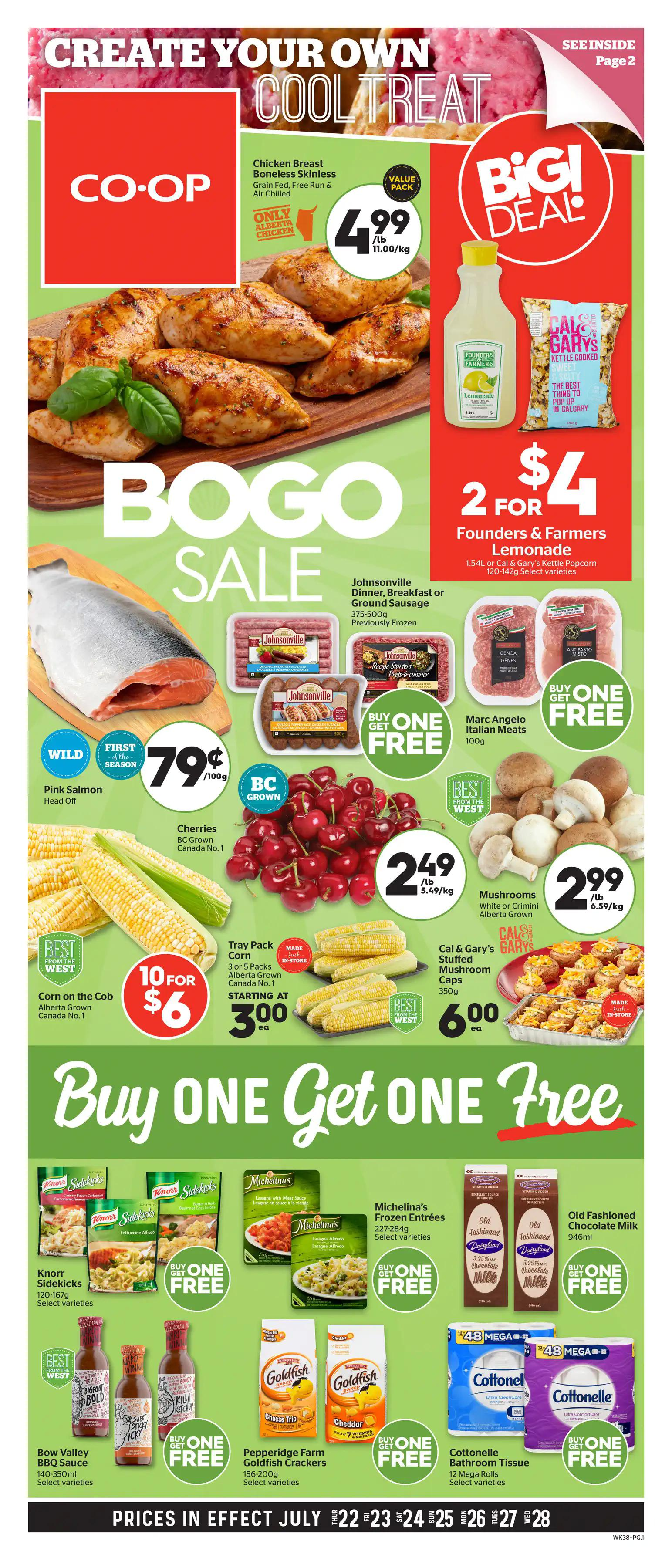 Calgary Co-op Flyer from july 22 to 28 2021