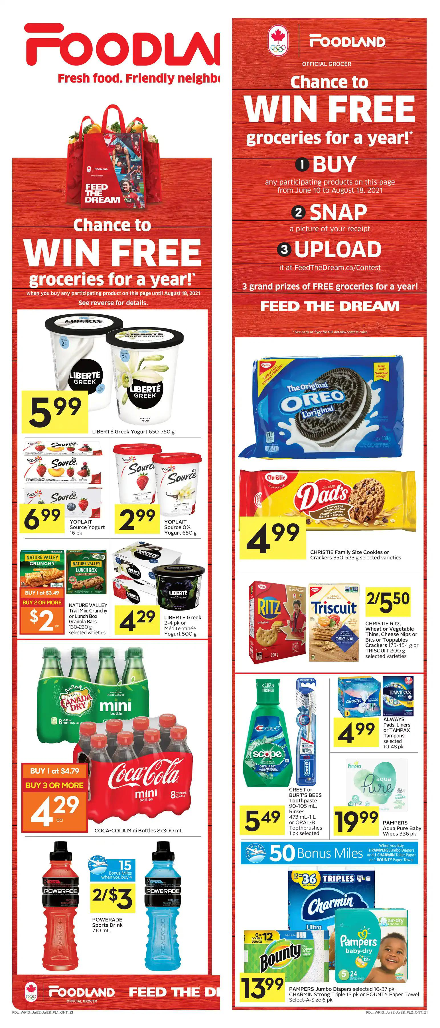 Foodland Flyer from july 22 to 28 2021