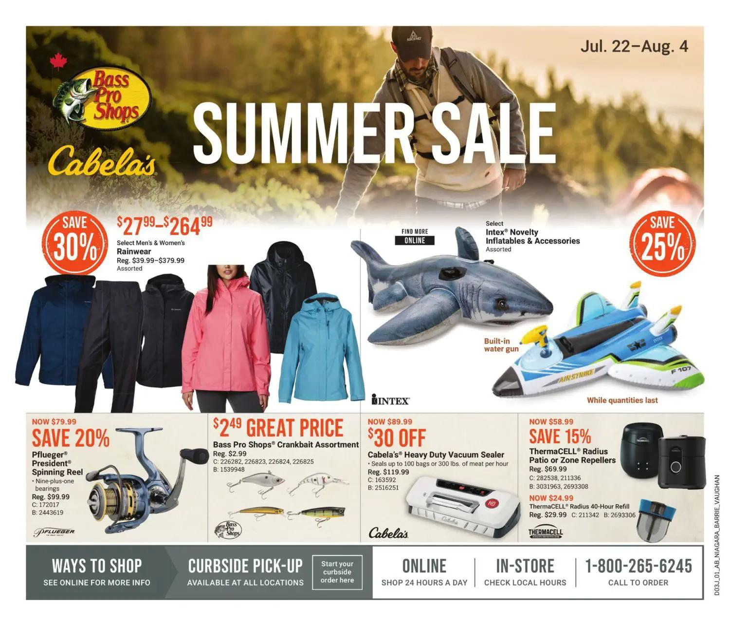 Bass Pro Shops Flyer from july 22 to august 4 2021
