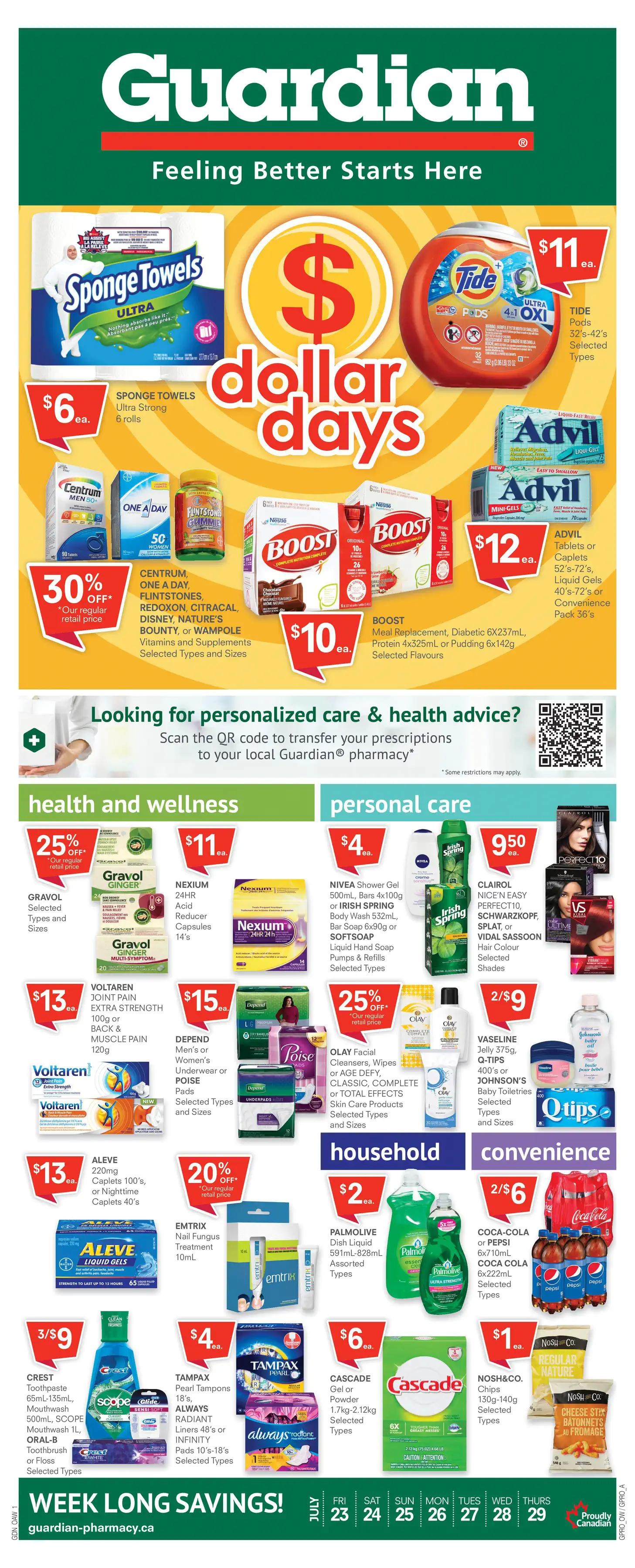 Guardian Pharmacies Flyer from july 23 to 29 2021