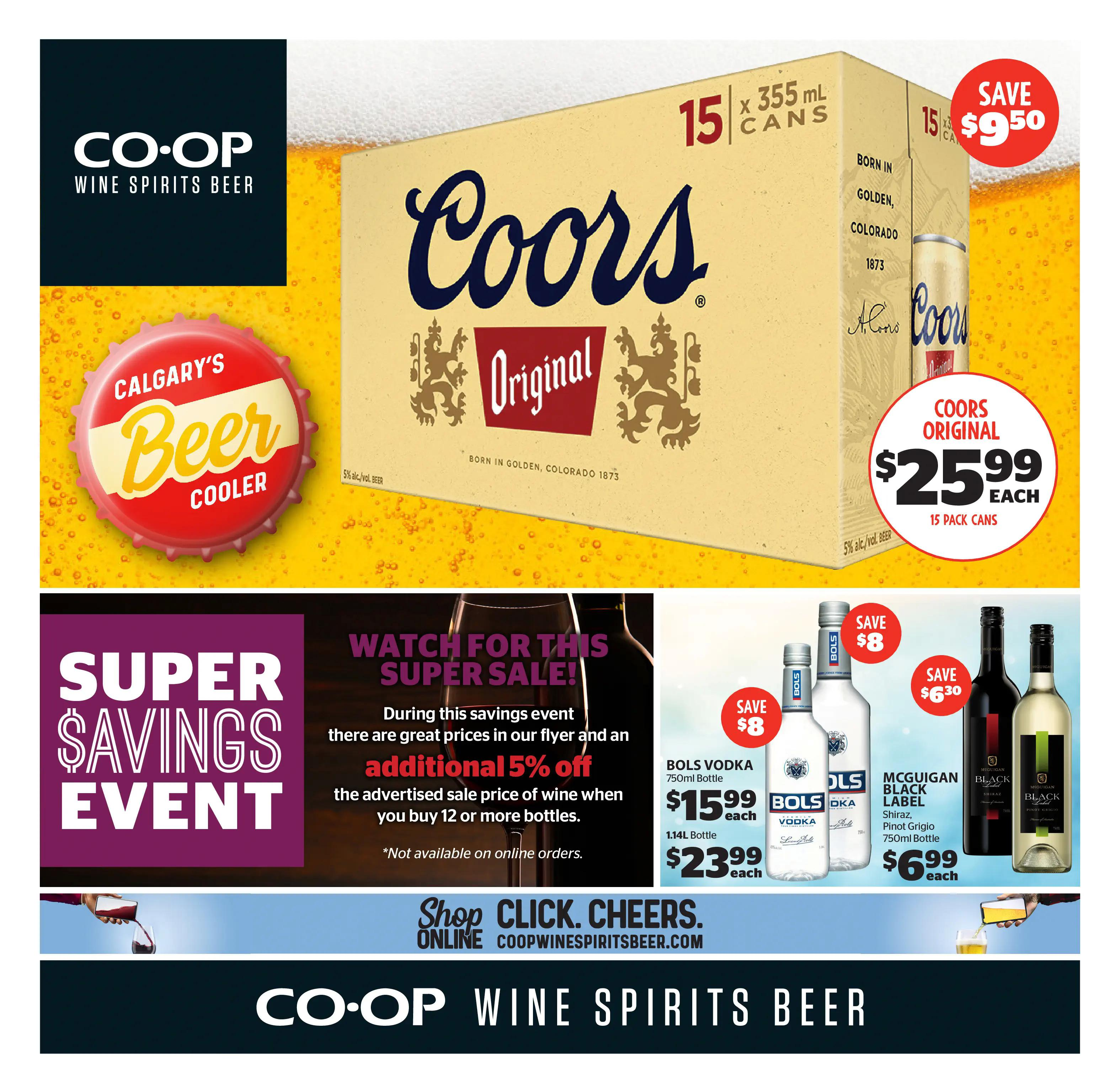 Calgary Co-op Wine Spirits Beer Flyer from july 22 to 28 2021