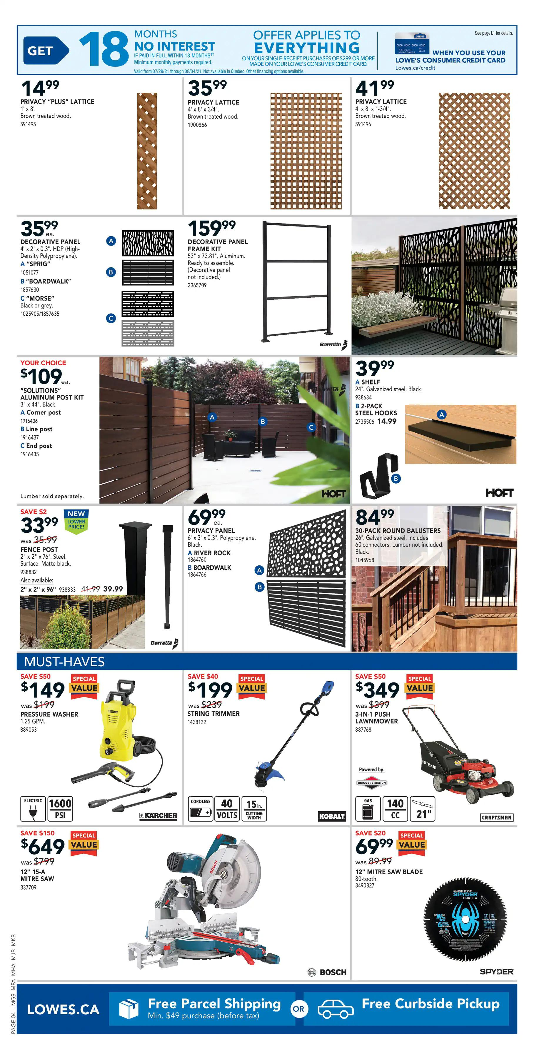 LOWE'S - Weekly Flyer Specials - Page 5