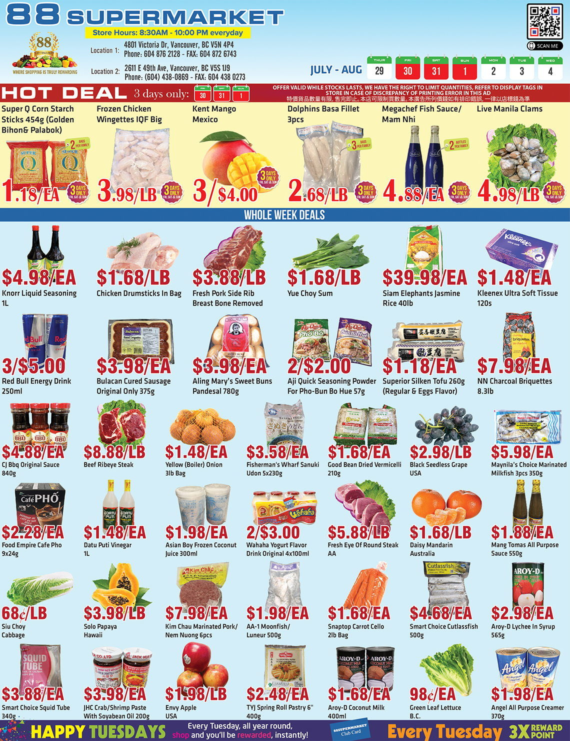 88 Supermarket - Weekly Flyer Specials