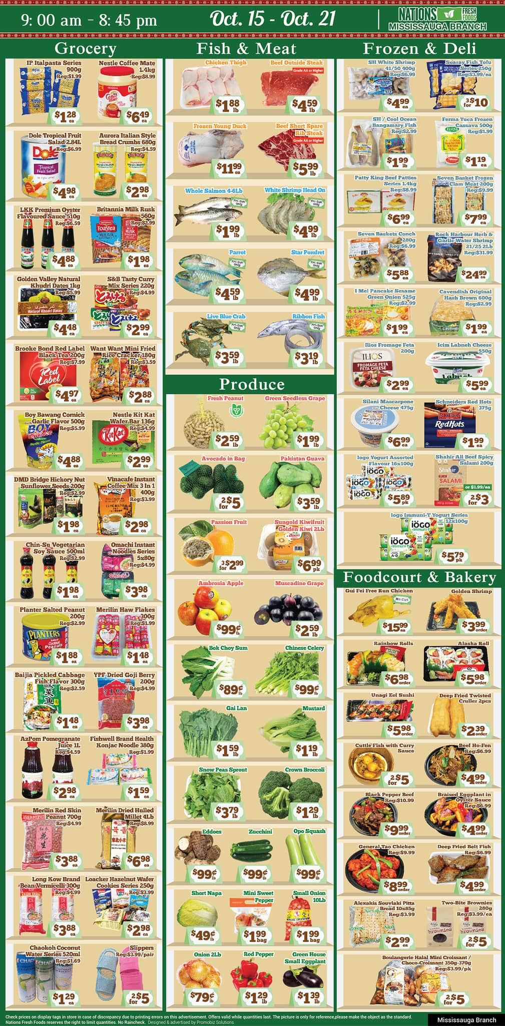 Nations Fresh Foods Mississauga Flyer from october 15 to 21 2021