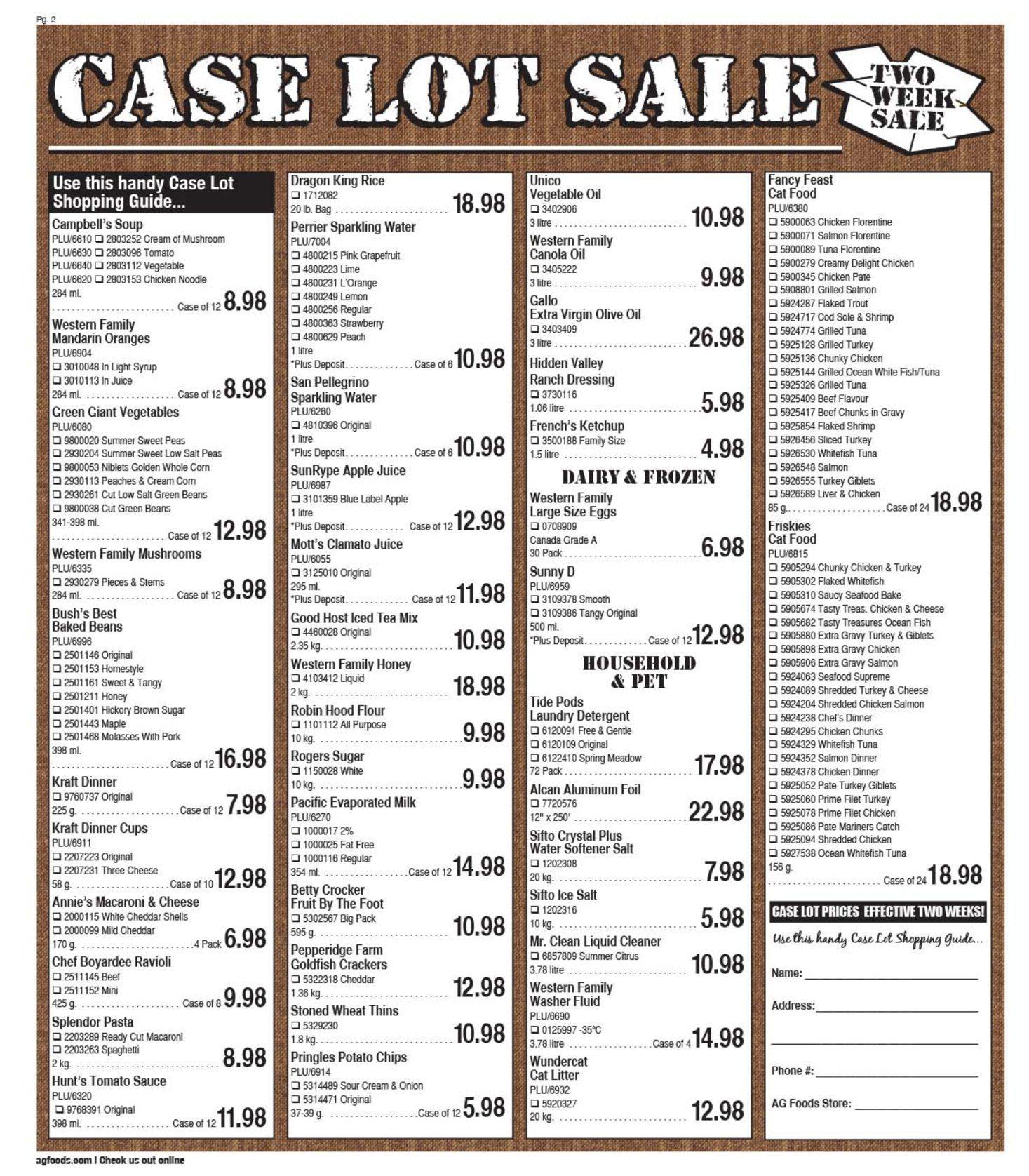 AG Foods - 2 Weeks of Savings - Page 2