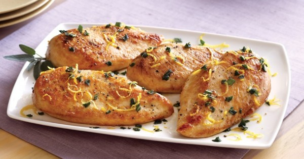 Seared Chicken with Lemon and Sage