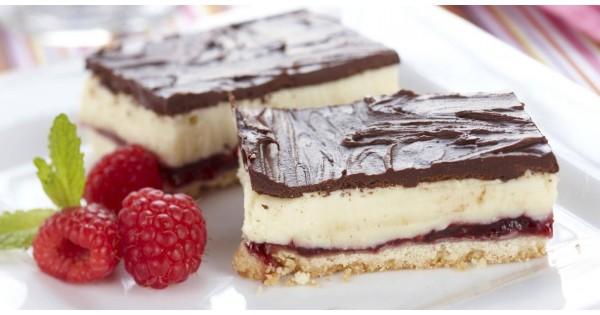 Chocolate Raspberry Layer Bars