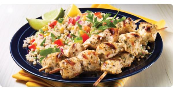 Chimichurri Chicken Brochettes and South American Quinoa Salad