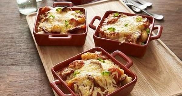 Cheesy Chorizo Bolognese Gnocchi