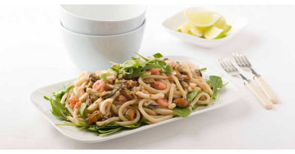 Seafood with Udon Noodles