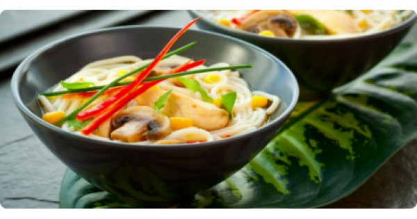 Vietnamese Soup with Chicken Breast Roast