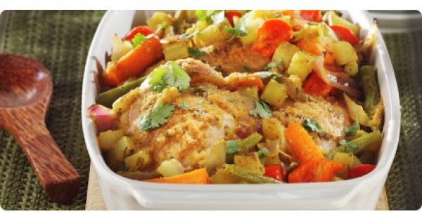 Mild Curry Chicken and Yellow Potatoes