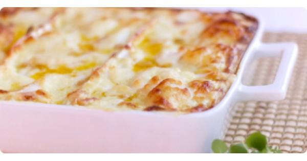 Roast Turkey and Vegetable Lasagna, Au Gratin
