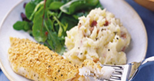 Crispy Herb Fish with Parmesan Potatoes
