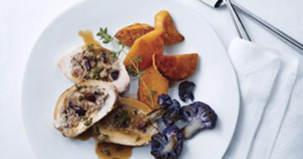 Mediterranean-Style Stuffed Chicken
