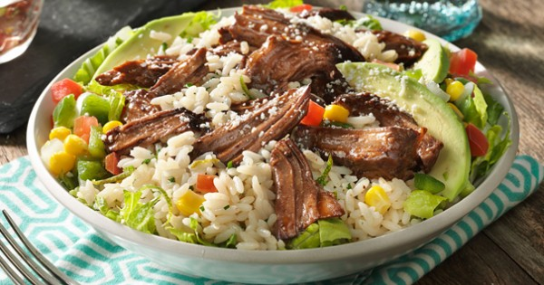 Beef Burrito Bowl with Cilantro Rice