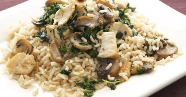 Mushroom & Spinach Stir-Fry