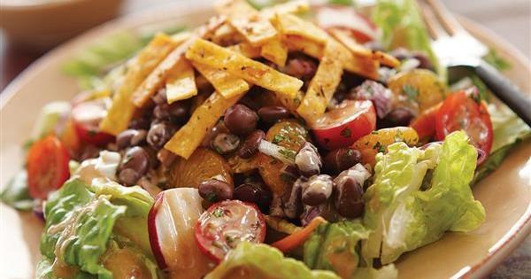 Black Bean Salad with Honey Peanut Dressing