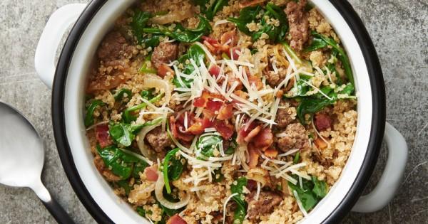 Beefy Bacon Quinoa One-Pot