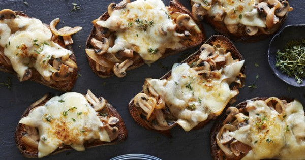 Caramelized Onion and Mushroom Cheese Melts