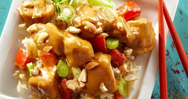 Cashew Chicken with Brown Rice