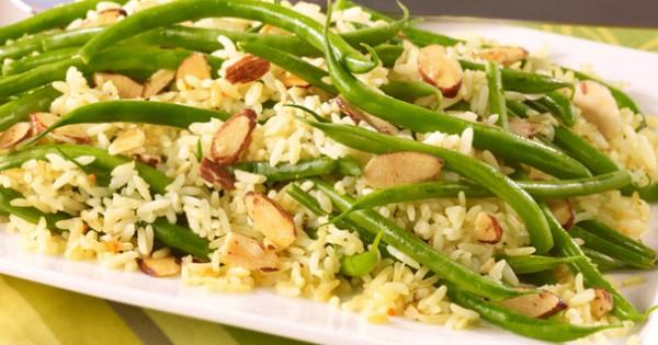 Almond Green Bean Rice