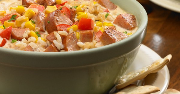 Andouille Brown Rice Chowder