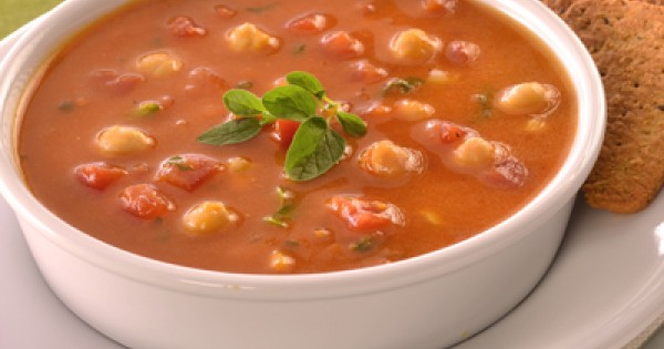 Libby's® Pumpkin Soup with Chickpeas & Tomatoes