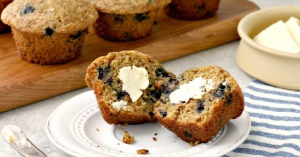 Whole Wheat Blueberry Muffins a Wholesome Snack