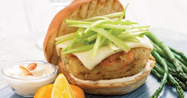 Crab and Mozzarella Burger