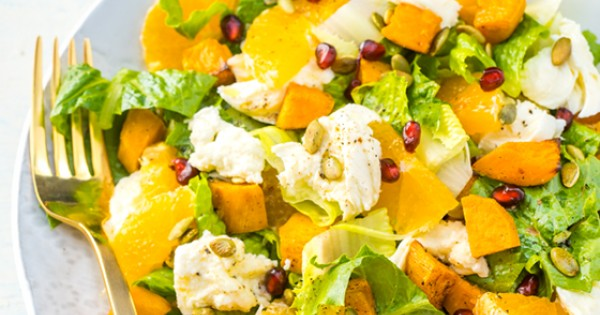 Sweet Potato, Clementine and Mozzarella Salad