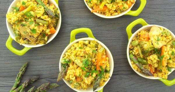 Spring Vegan Vegetable Paella