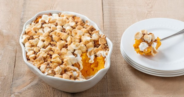 Sweet Potato Bake with Marshmallow Topping