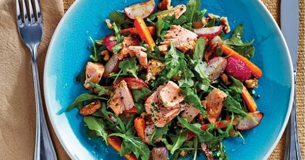 Warm Salmon & Roasted Vegetable Salad