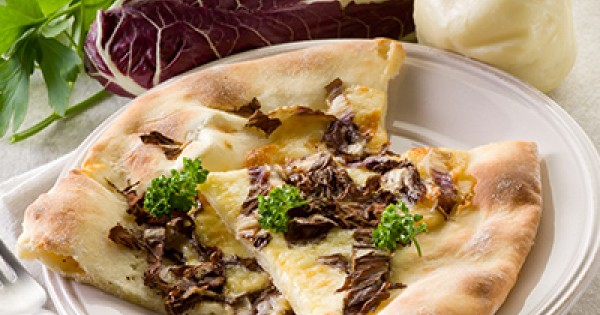 Roasted Fennel Pizza with Radicchio