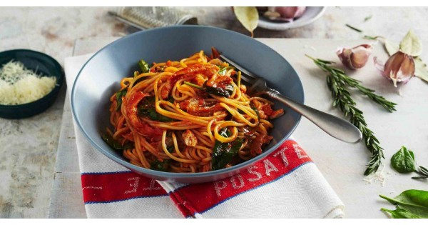 Tomato Chicken & Baby Spinach Spaghettini