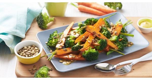 Carrot, Broccoli and Pepita Salad