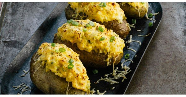 Spicy Smoked Gouda Twice-Baked Potatoes
