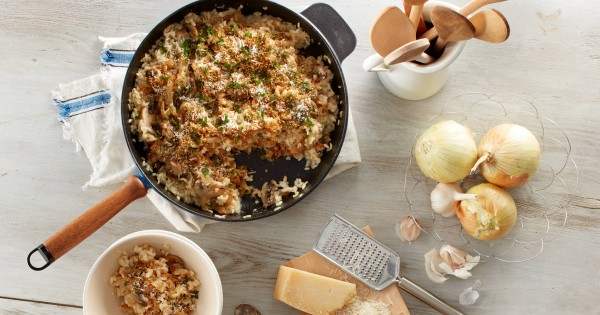 Caramelized Onion and Mushroom Risotto